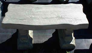 Wood Slab Bench