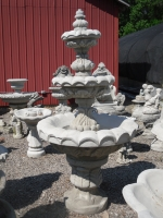3 Tier Carved Stone Fountain