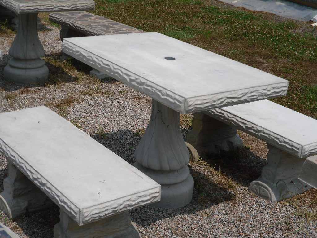 Patio Table Sets The Cement Barn Manufacturers Of Quality Concrete Statues Garden Center
