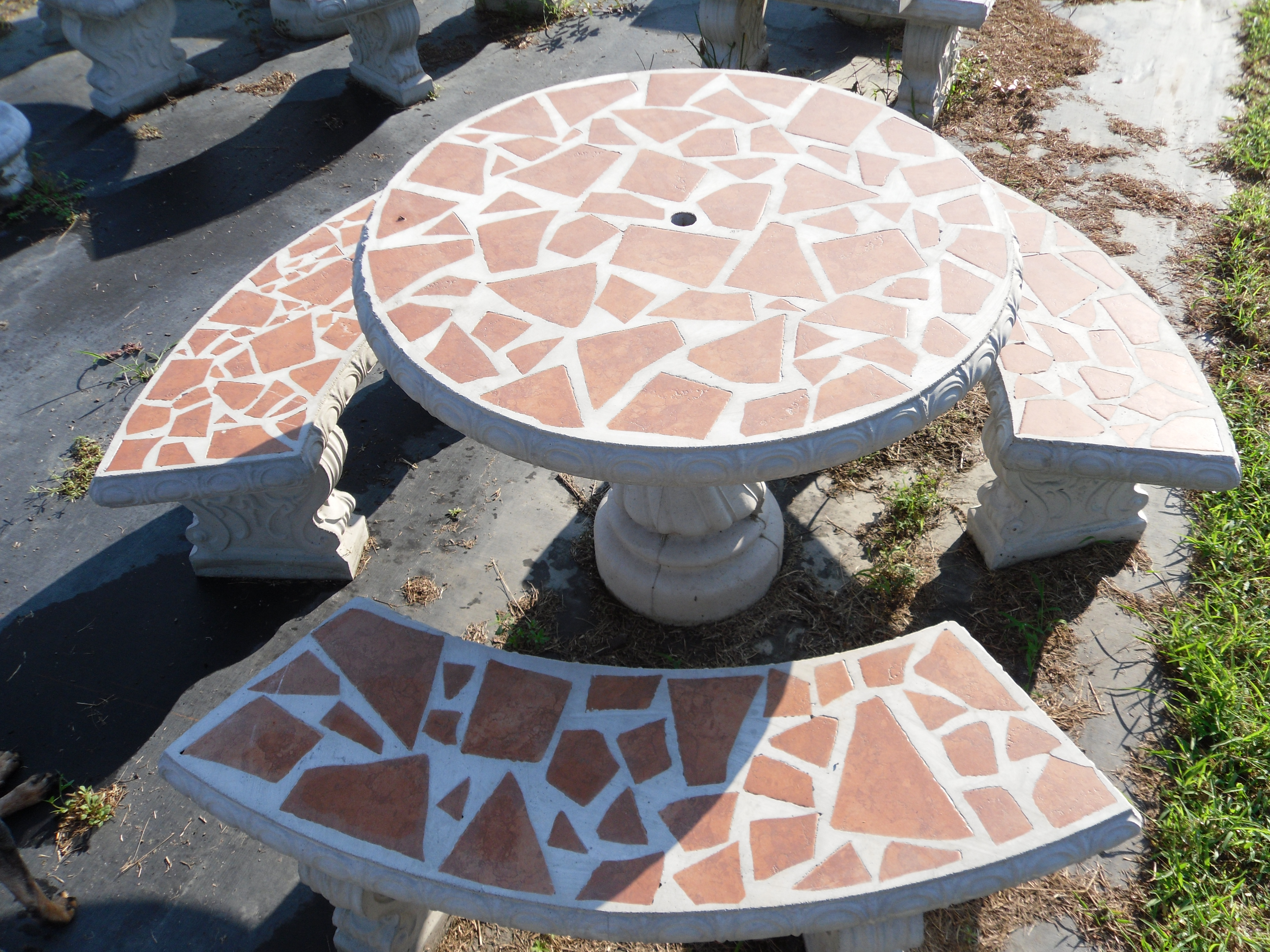 Patio table sets the cement barn manufacturers of for Concrete patio table set