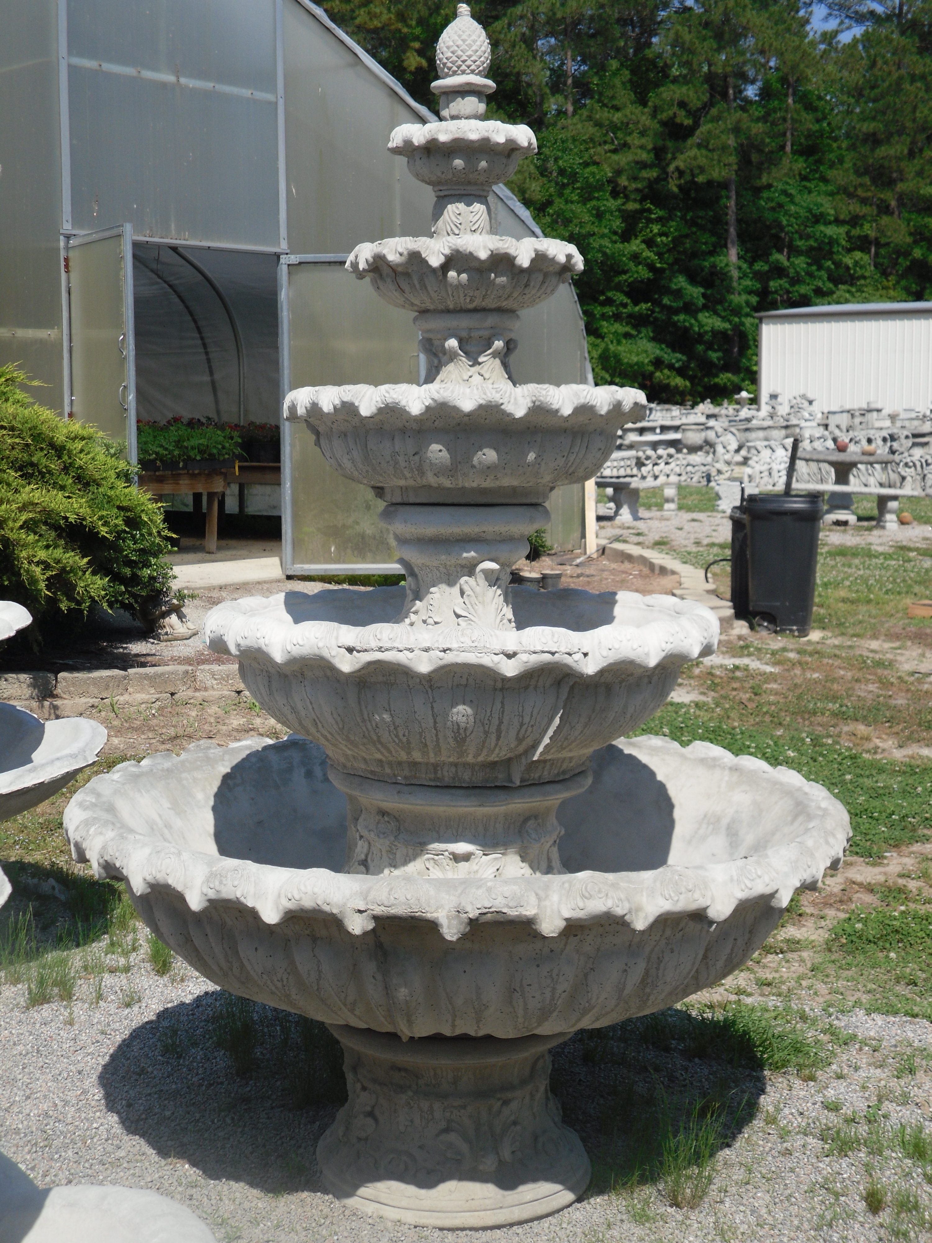 Outdoor Concrete Water Fountains Patio Fountains The Cement Barn