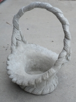 Medium Wicker Concrete Basket