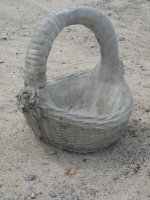 Small Concrete Rose Basket