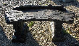 Log and Vine Bench