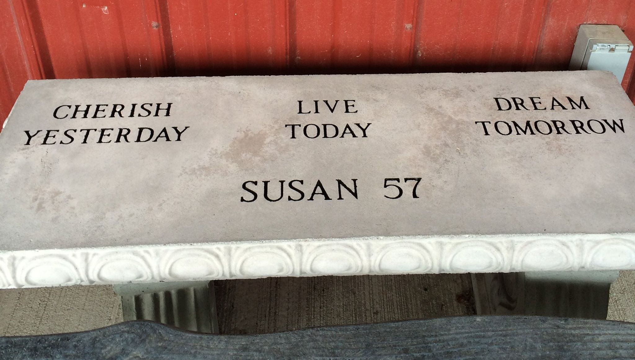 Susan - Engraved Bench