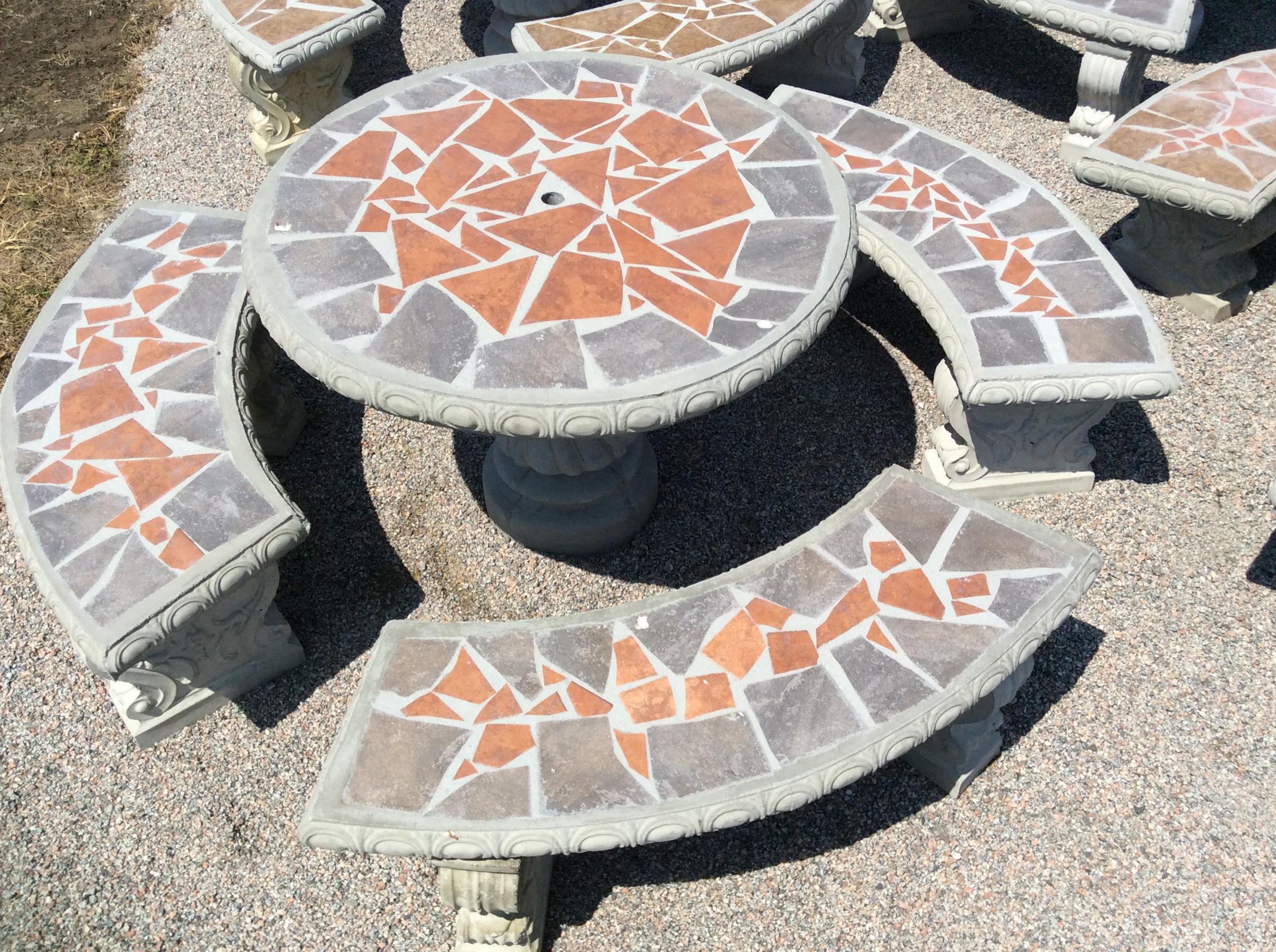 Amazing Patio Table Sets The Cement Barn Manufacturers Of Inzonedesignstudio Interior Chair Design Inzonedesignstudiocom