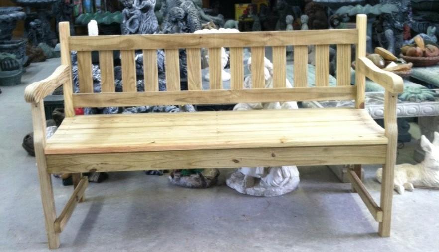 5' Wood Slat Bench